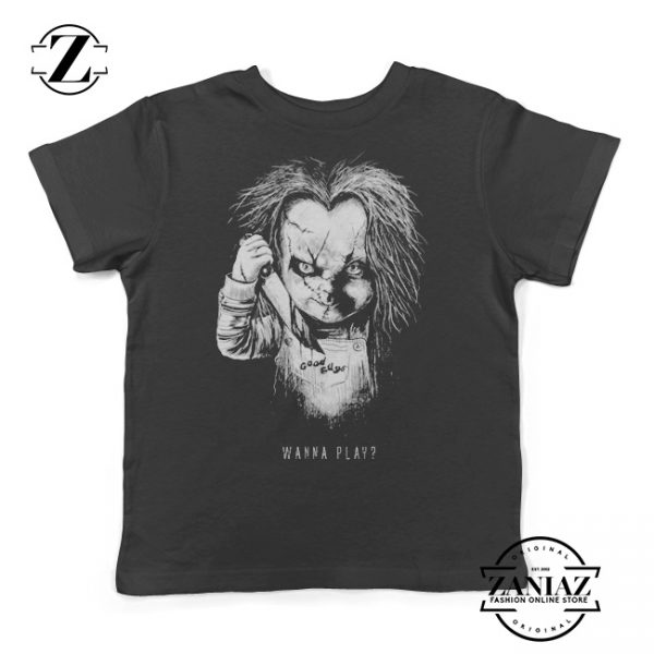 Buy Halloween Chucky Wanna Play Youth Tee Shirt