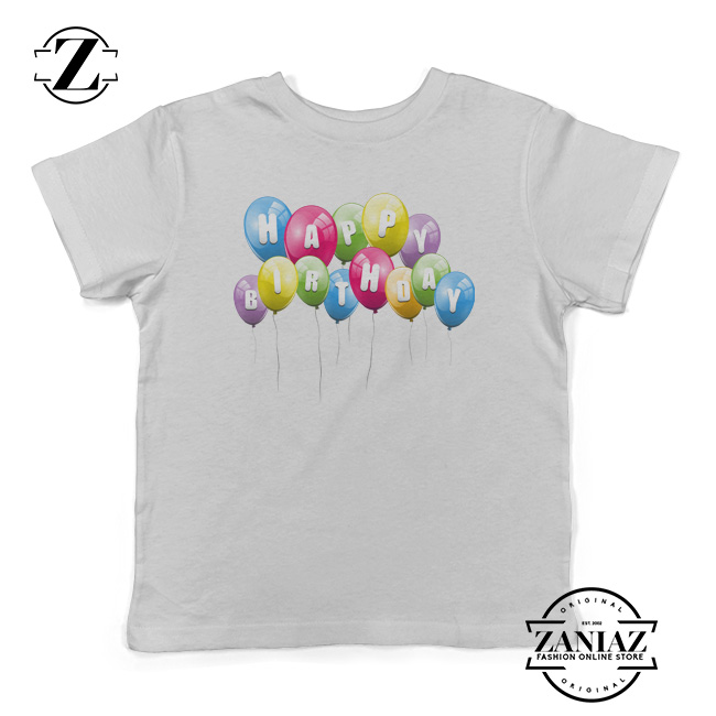 Buy Kids Shirt Balloons Happy Birthday Youth Tees
