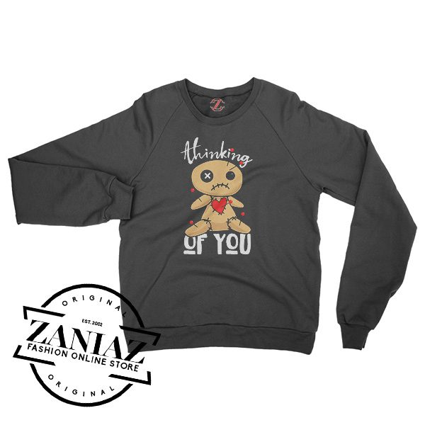 Buy Sweatshirt Halloween Funny Voodoo Doll Crewneck Size S-3XL