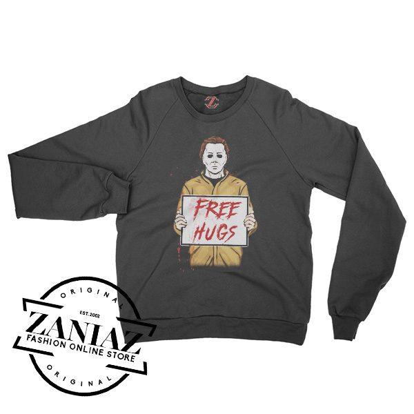 Buy Sweatshirt Halloween Horror Free Hugs Crewneck Size S-3XL