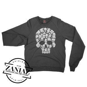 Buy Sweatshirt So Many Skulls Halloween Crewneck Size S-3XL