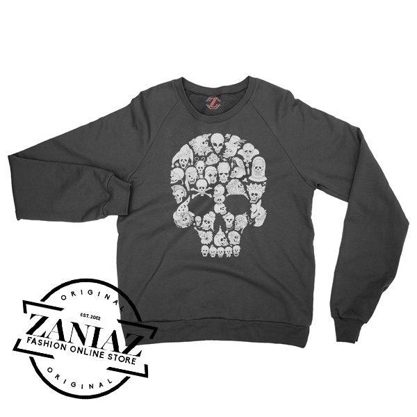 Buy Sweatshirt So Many Skulls Halloween Crewneck Size S-3XL