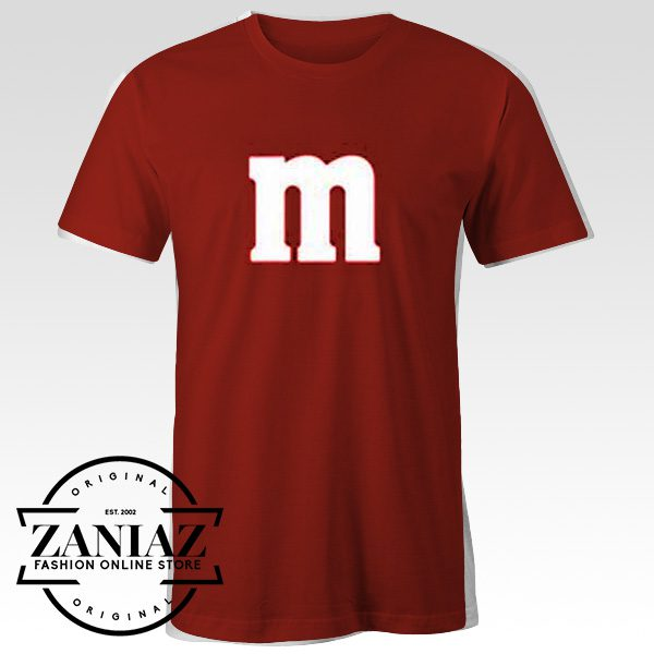 Cheap Alphabet M Gift Shirt Halloween T-Shirt