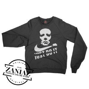 Cheap Halloween Just Do It Horror Sweatshirt Crewneck Size S-3XL