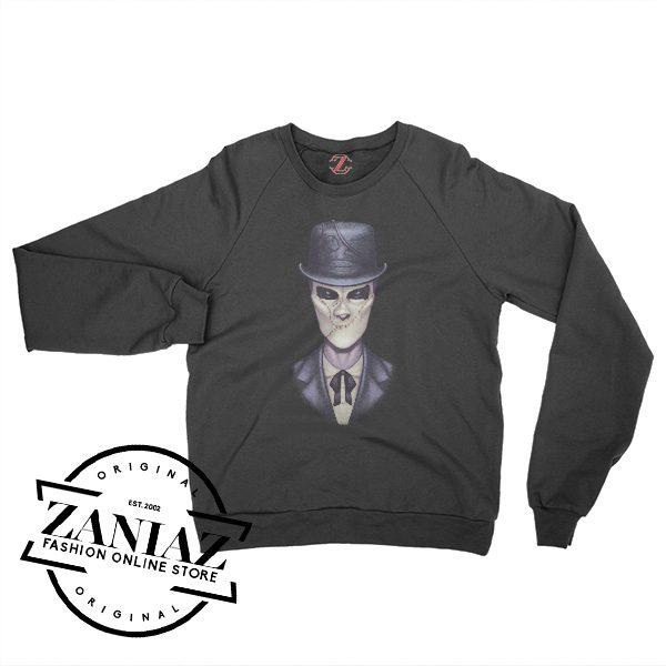 Cheap Halloween Slender Man Sweatshirt Crewneck Size S-3XL