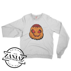 Cheap Zombie Pumpkin Halloween Sweatshirt Crewneck Size S-3XL