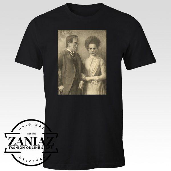 Halloween Shirt Mr and Mrs Frankenstein T-Shirt