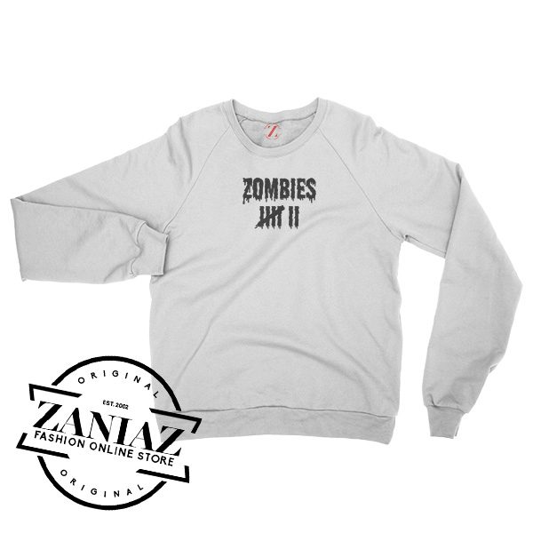 Halloween Sweatshirt Zombie Kill Count Scary Crewneck Size S-3XL