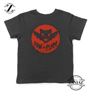 Vampire Cat Tshirt Vam Purr Boy Girl Toddler Kids