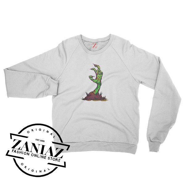 Zombie Hand Horror Halloween Sweatshirt Crewneck Size S-3XL
