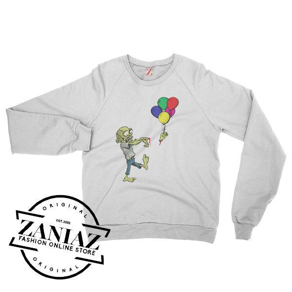 Zombie Loses Arm Funny Halloween Sweatshirt Crewneck Size S-3XL