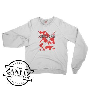 Zombielicious Zombie Movie Halloween Sweatshirt Crewneck Size S-3XL