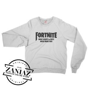 Buy Fortnite Game Gift Sweatshirt Crewneck Size S-3XL