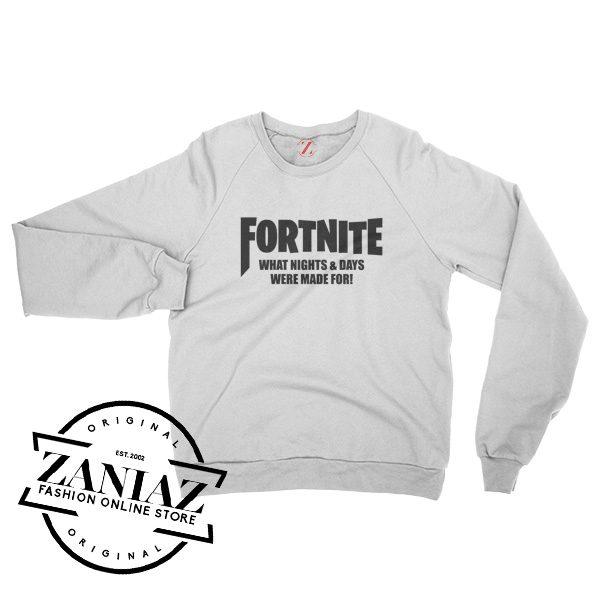 Buy Fortnite Game Gift Sweatshirt Crewneck Size S-3XL