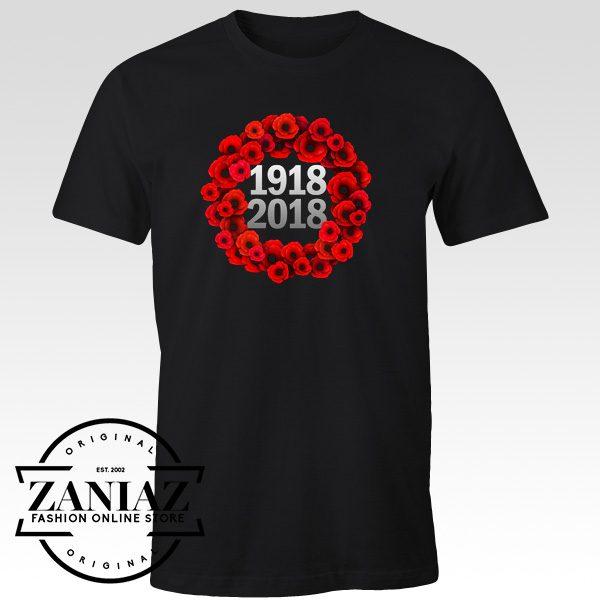 Buy T-Shirt World War 1 Centennial Poppy Wreath