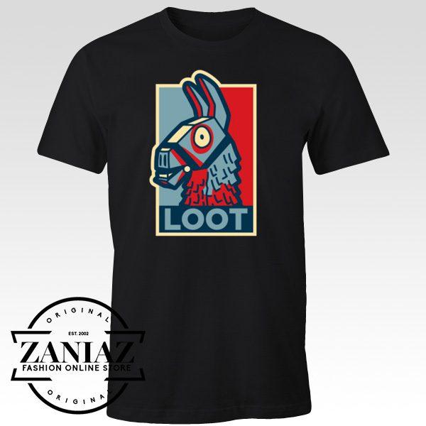Cheap Gift Shirt Loot Llama Hope Fortnite Game
