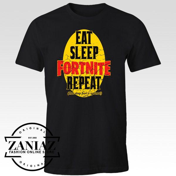 Chrismast T-Shirt Fortnite Eat Sleep Fortnite Repeat
