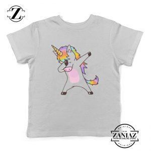 Christmas Gift Dabbing Unicorn Shirt Kids Tees