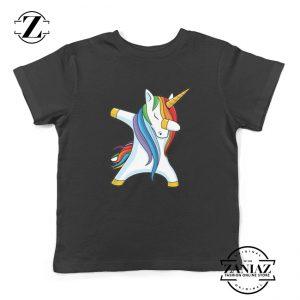 Dabbing Unicorn Shirt Gifts for Kids Christmas Tees