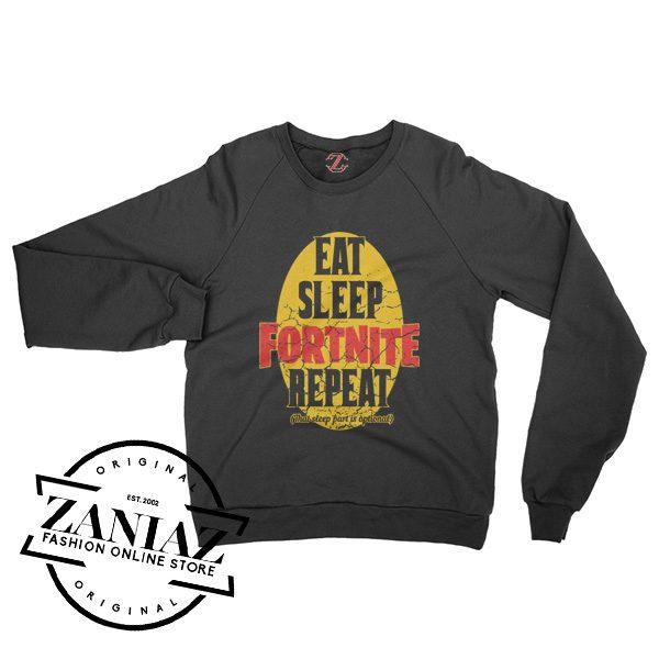 Eat Sleep Fortnite Repeat Quotes Sweatshirt Crewneck Size S-3XL