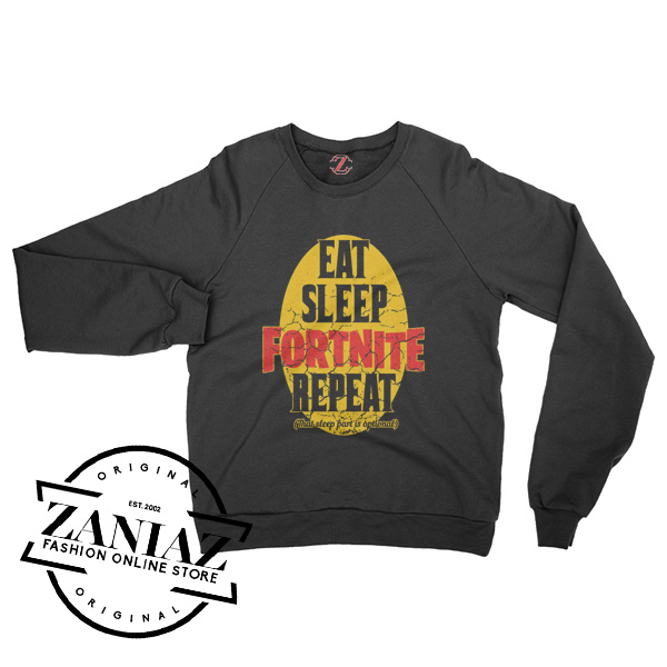 Eat Sleep Fortnite Repeat Quotes Sweatshirt Crewneck Size S 3xl