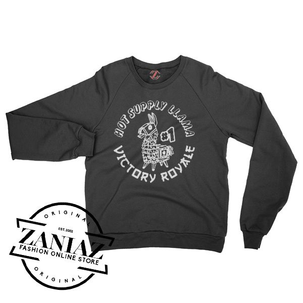 Hot Supply Llama Victory Royale Gift Sweatshirt Crewneck Size S-3XL