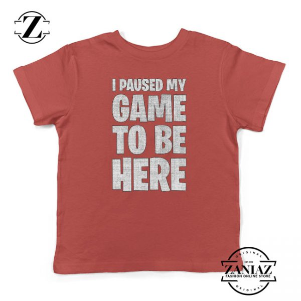 I Paused My Game To Be Here Christmas Kids Tees