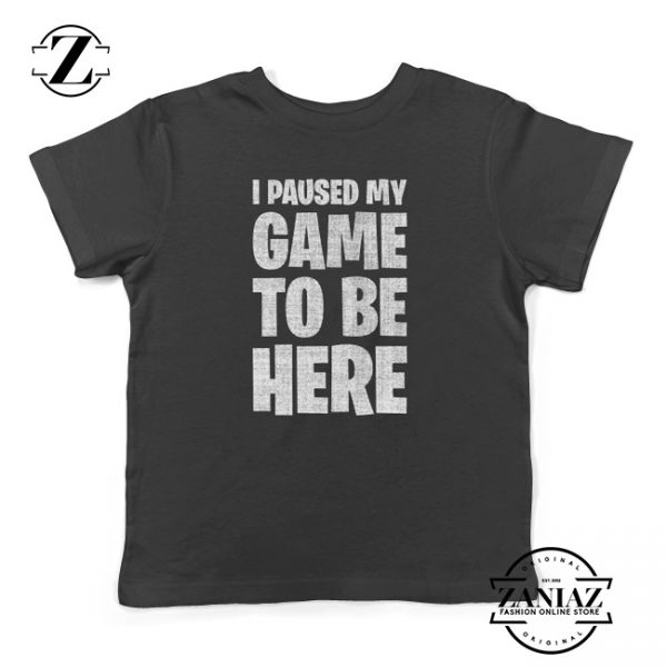 I Paused My Game To Be Here Kids Tees Christmas