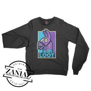 Loot Llama Battle Royale Fortnite Game Sweatshirt Crewneck Size S-3XL