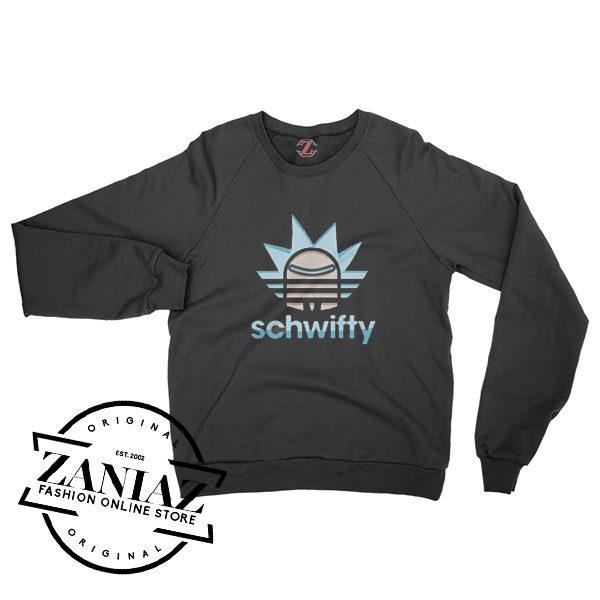 Sweatshirt Christmas Gift Rick and Morty Schwifty Crewneck Size S-3XL