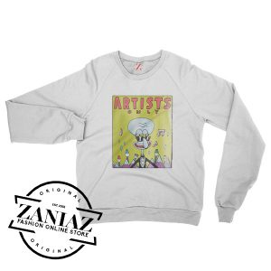 Artists Only Squidward Gift Sweatshirt Crewneck Size S-3XL