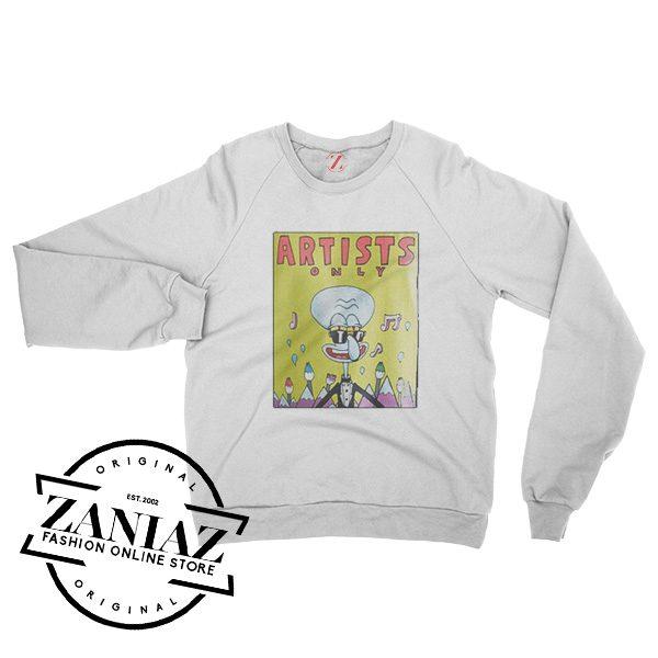 Artists Only Squidward Gift Sweatshirt Crewneck Size S-3XL