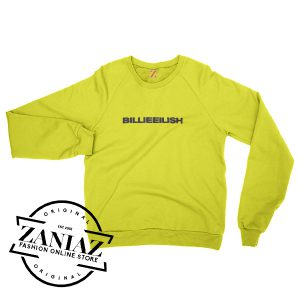 Billie Eilish Yellow Christmas Gift Sweatshirt Crewneck Size S-3XL