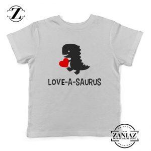 Boys Valentine Shirts Love a Saurus Dinosaur Shirt