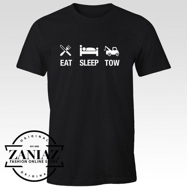 Buy Eat Sleep Tow Driver Trucking Shirt Gift for Man