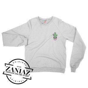 Cactus Pocket Christmas Gift Sweatshirt Crewneck Size S-3XL