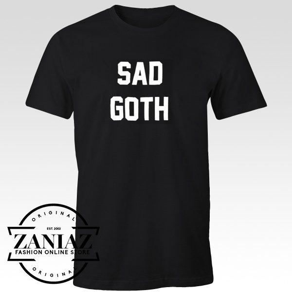 Cheap Christmas Gift Tshirt Sad Goth Size Adult