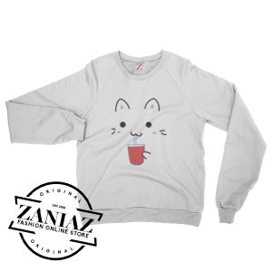 Cheap Cute Kawaii Cat Christmas Gift Sweatshirt Crewneck Size S-3XL