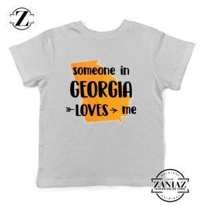 Cheap Kids T-shirt Someone in Georgia Loves Me