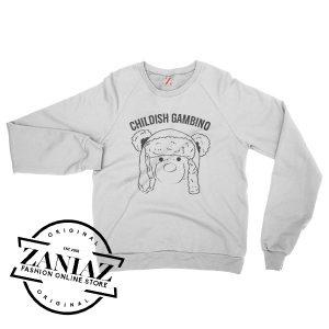 Childish Gambino Teddy Bear Cheap Sweatshirt Crewneck Size S-3XL