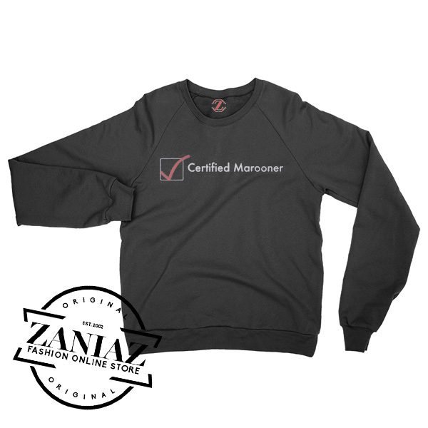 Maroon Five Certified Marooner Sweatshirt Crewneck Size S-3XL