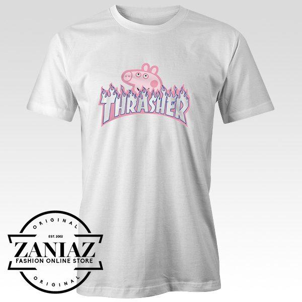 77e2fc5c79fe Peppa Pig X Thrasher Parody Ringer Cheap T Shirt - FASHION GRAPHIC ONLINE  STORE