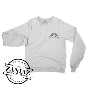Rainbow Pocket Top Fashion Christmas Sweatshirt Crewneck Size S-3XL