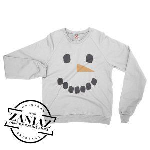 Snowman Face Christmas Gift Sweatshirt Crewneck Size S-3XL