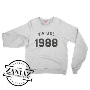 Sweatshirt 30th Birthday Gifts Birthday Sweatshirt Crewneck Size S-3XL