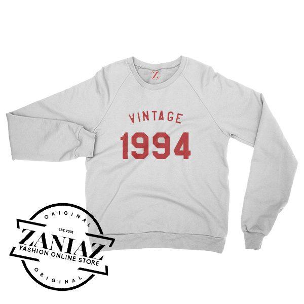 Vintage Sweatshirt 24th Birthday Gift 1994 Sweatshirt Crewneck