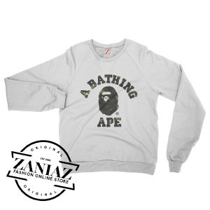 A Bathing Ape Bape Camo Cheap Gift Sweatshirts Crewneck Size S-3XL