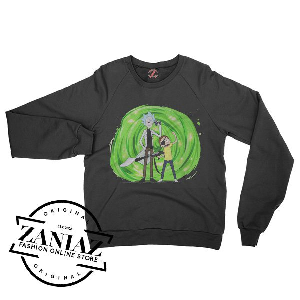 Cheap Rick And Morty Merchandise Pirate Sweatshirt Crewneck