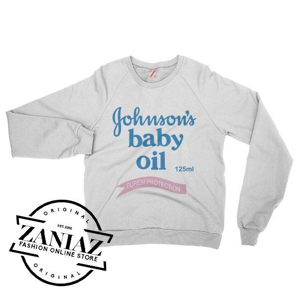 Johnson's Baby Oil Cheap Gift Sweatshirt Crewneck Size S-3XL
