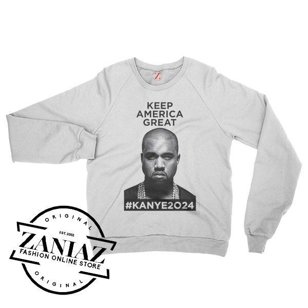 Keep America Great Kanye West 2024 Sweatshirt Crewneck Size S-3XL